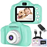 Kids Camera, 1080P FHD Digital Video Recorder Shockproof Action Cameras with 2 Inch IPS Screen and 32GB SD Card for…