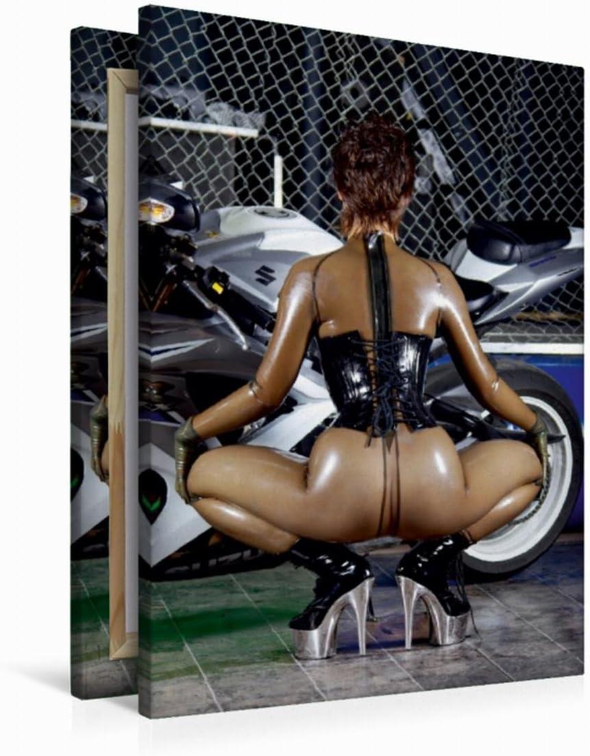 Erotische Latex-Lady (Wandbild Leinwand 60x90cm)
