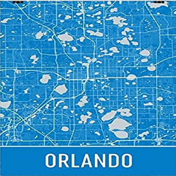 Florida City Map.Amazon Com Orlando Poster Orlando Art Print Orlando Wall Art