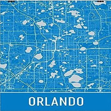 City Map Of Florida.Amazon Com Orlando Poster Orlando Art Print Orlando Wall Art