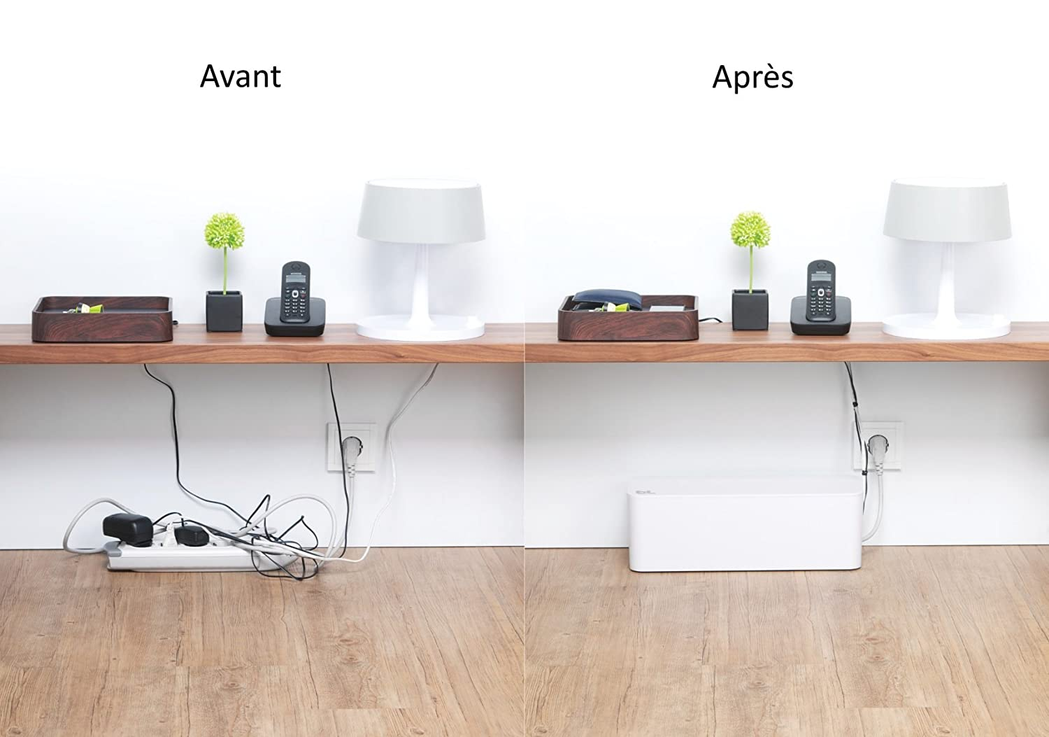 Bluelounge Cable Box Cable Management/Tidy Solution in White: Amazon ...