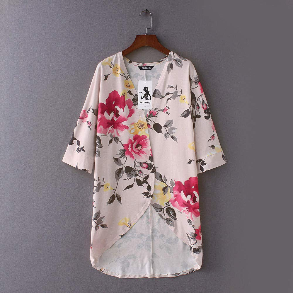 Yvelands Moda para Mujer Ropa de Playa Casual Mantón de Impresión Kimono Outwear Cardigan Top Cover Up Top Blusa: Amazon.es: Ropa y accesorios