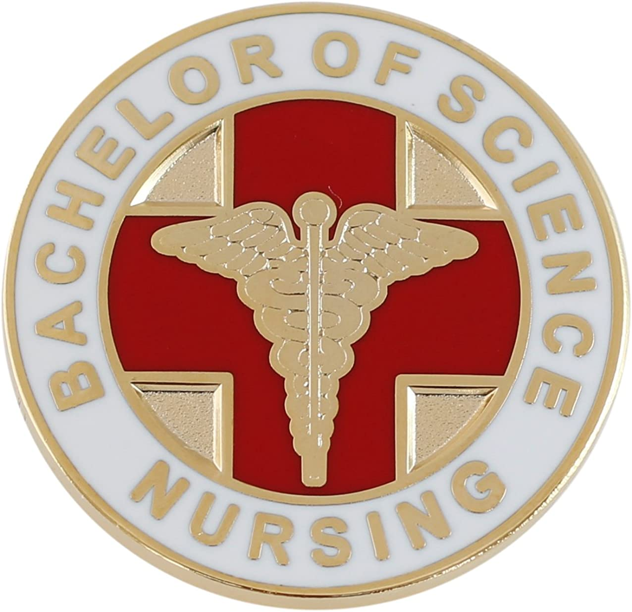 Forge Bachelor of Science Nursing BSN Caduceus Lapel Pin