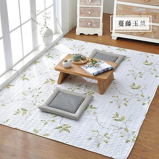 Algodón hogar tatami alfombras gatear alfombra dormitorio cama ...