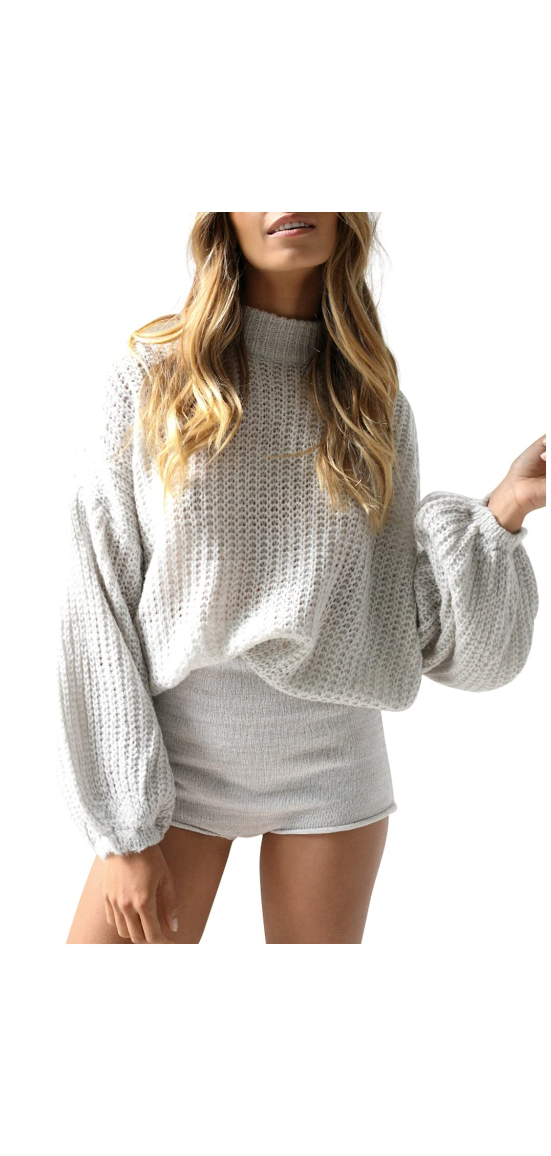 Simplee Women's Casual Long Sleeve Loose Pullover Knit Sweater