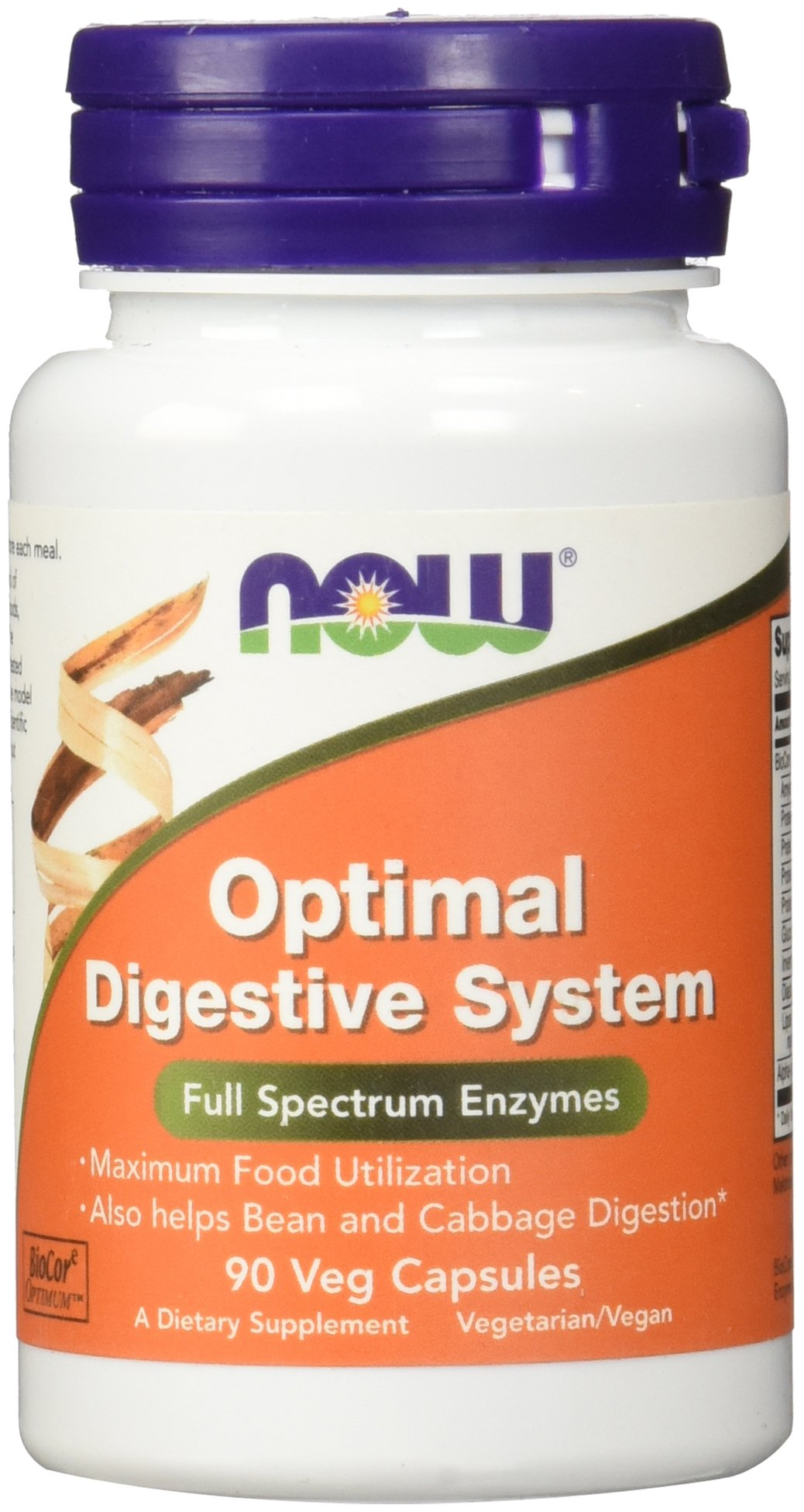 Now Supplements, Optimal Digestive System, Full Spectrum Enzymes, 90 Veg Capsules by NOW Foods