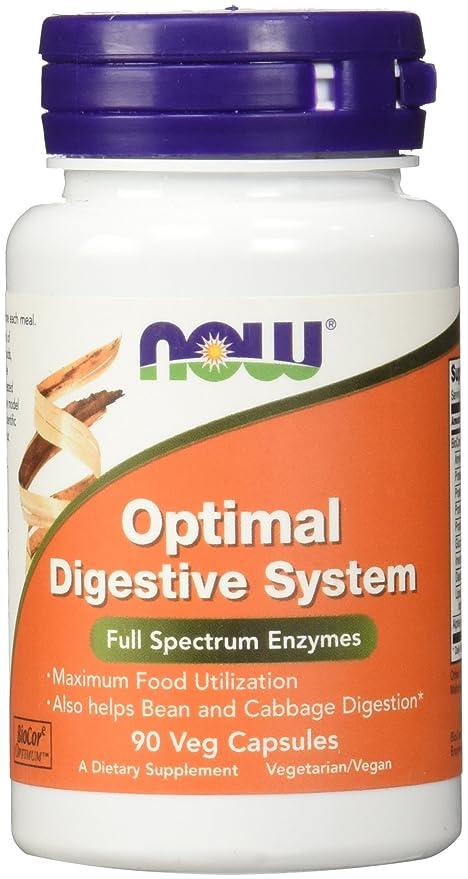Sistema digestivo óptimo, 90 Caps Veggie - Now Foods: Amazon ...
