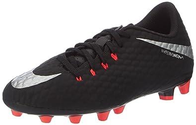 Nike Unisex-Kinder Jr Hypervenom Phinish Ii FG Fußballschuhe, Schwarz (Black/Metallic Silver-Black-Anthracite), 38 EU