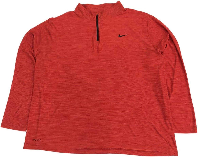 Men/'s Big and Tall Nike Dri-Fit Breathe Polyester Quarter Zip Long Sleeve Shirt