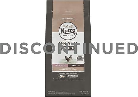 Nutro; Grano Libre Pequeño Raza Pollo & Lentils Seco Alimento de ...