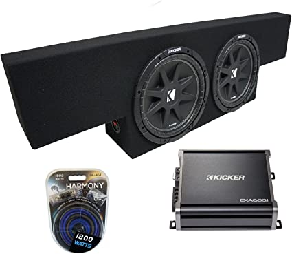 Compatible with 2014 UP GMC Sierra Crew Cab Truck Dual 12 Sub Box Subwoofer Enclosure