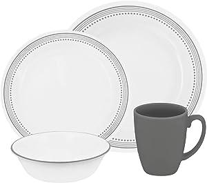 Dinnerware 16pc Mystic Gray