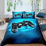 Gamer Bedding Set Full Size for Kids Boys Game Room Decor Gaming Comforter Cover Set Teens Bedroom Microfiber Soft Video Game