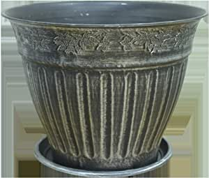 PLASTIC PLANTER POT SIZE 32 by 40 SILVER