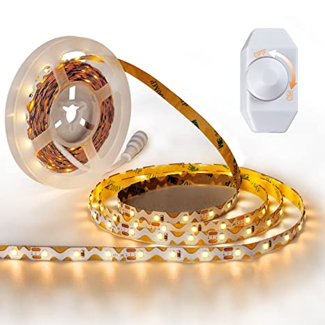 Amazon yihong vanity mirror lights 164ft led ribbon with yihong vanity mirror lights 164ft led ribbon with dimmer 300 smd 2835 leds strip lights aloadofball Image collections