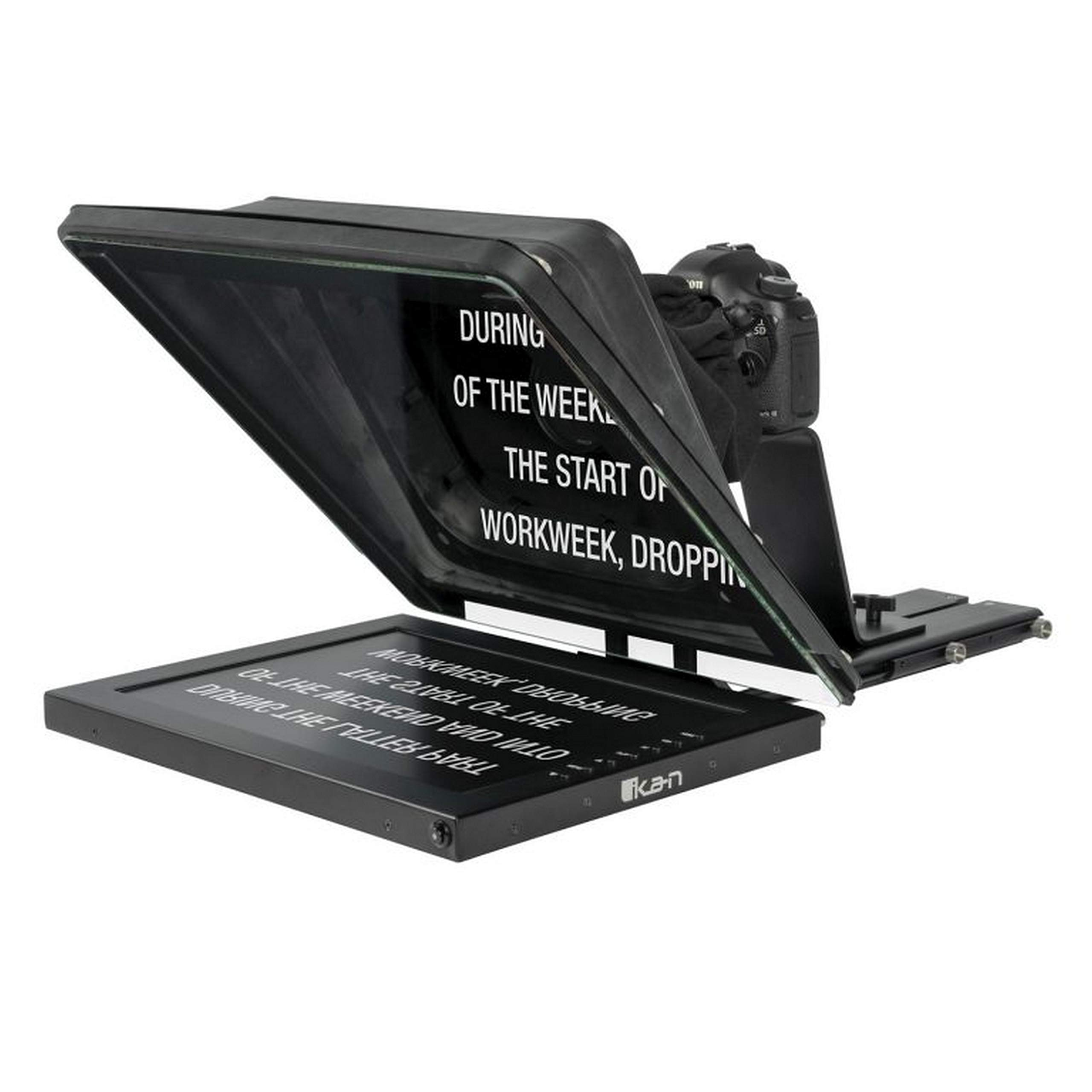 Ikan Professional 17 Inch High Bright Beam Splitter 70/30 Glass Teleprompter (PT4700)