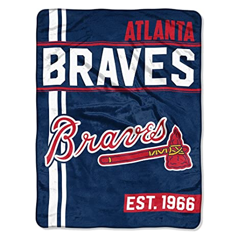 8f2efeaed6f Image Unavailable. Image not available for. Color  The Northwest Company MLB  Atlanta Braves Micro Raschel Throw ...