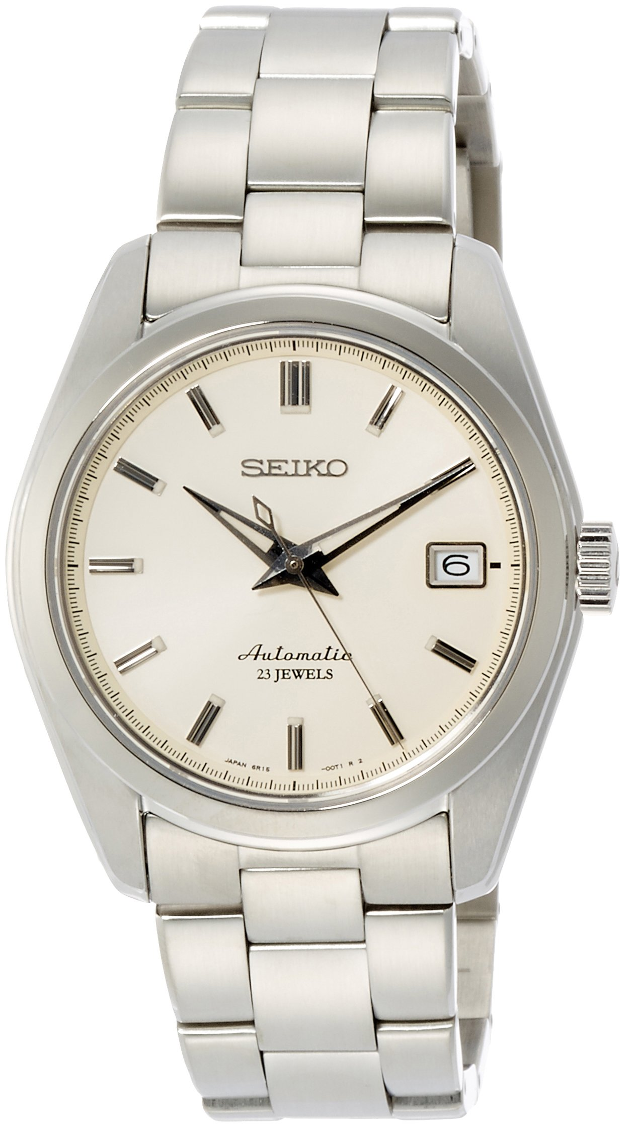 Seiko Men's Japanese-Automatic Watch with Stainless-Steel Strap, Silver, 20 (Model: SARB035) by SEIKO