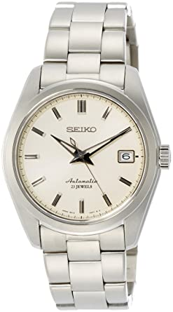 5a833f1be Seiko Men's Japanese-Automatic Watch with Stainless-Steel Strap, Silver, 20  (