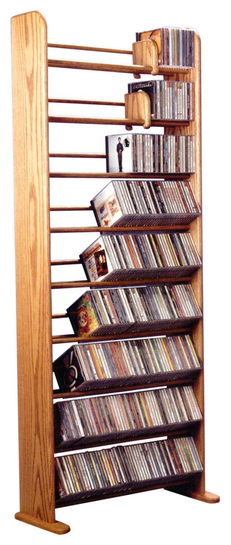 The Wood Shed 901 U Solid Oak CD Rack, Unfinished