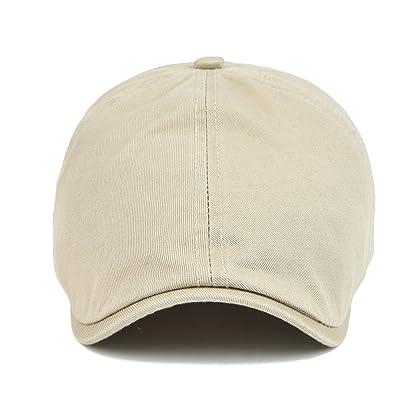 ... VOBOOM Cotton Washing Flat Cap Cabbie Hat Gatsby Ivy Irish Hunting  Newsboy (Khaki) ... 4c9282ec0b4e