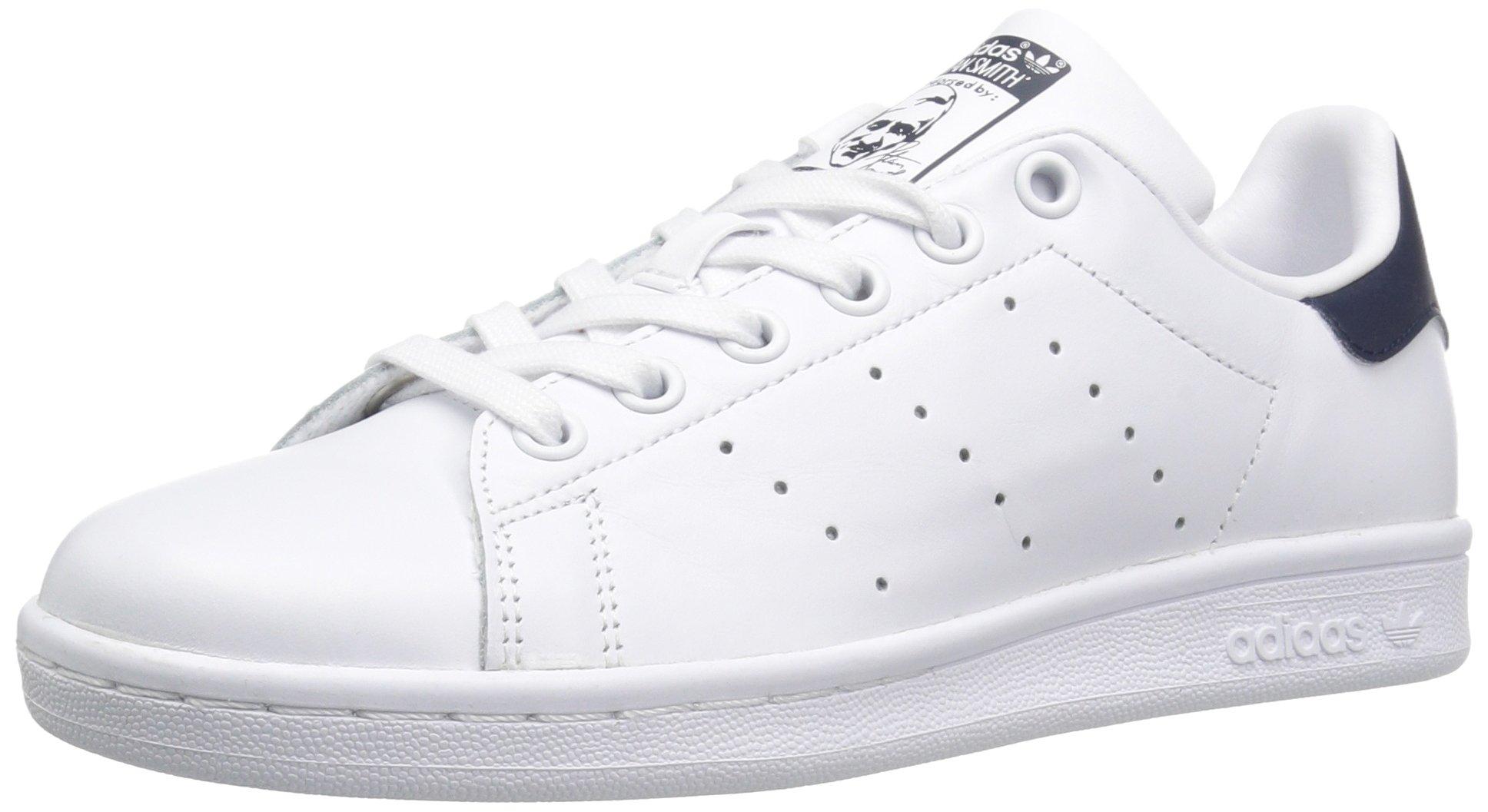adidas Originals Women's Stan Smith Sneaker, Footwear White/Collegiate Navy, 7 by adidas Originals