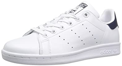 5c919c001d4 adidas Originals Women's Shoes Stan Smith Fashion Sneakers,  White/White/Collegiate Navy,