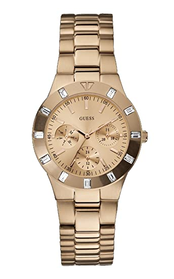 157b717b39bc Buy Guess Analog Gold Dial Women s Watch - W16017L1 Online at Low Prices in  India - Amazon.in