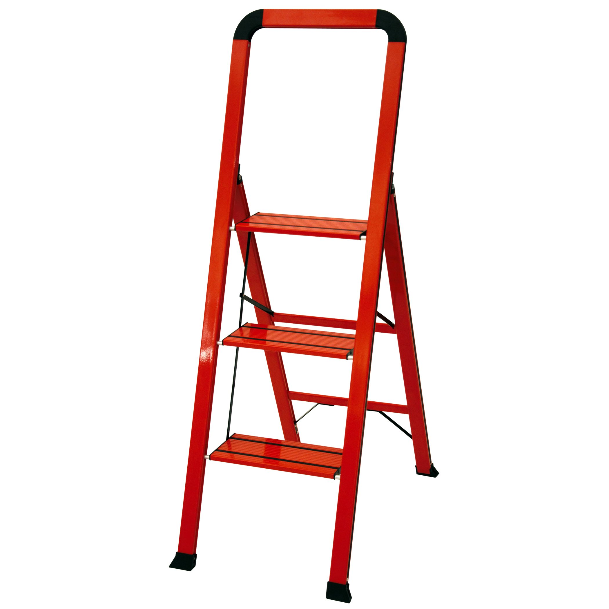 Ascent ADS3-001-RD Series Aluminum 3 Designer Step Stool, Red
