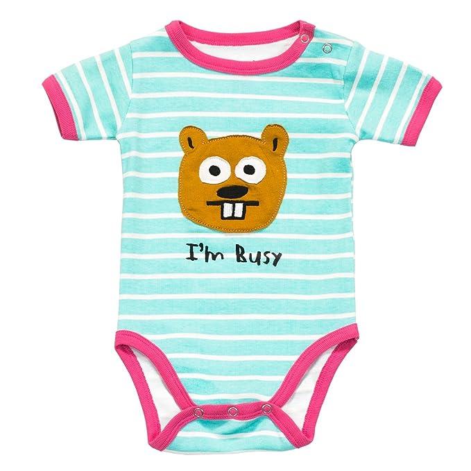 LazyOne Niñas Im Busy Mameluco Bebé 6 Meses