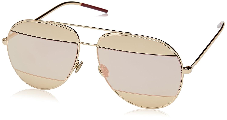 7376fa754ac9b Amazon.com  Dior Womens Split 59Mm Metal Aviator Sunglasses  Clothing