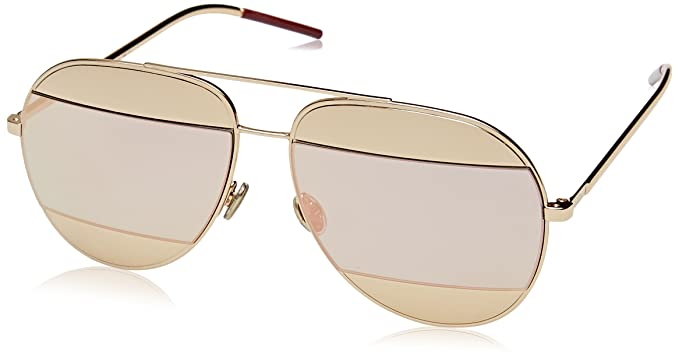 b743f4f129f Amazon.com  Dior Womens Split 59Mm Metal Aviator Sunglasses  Clothing