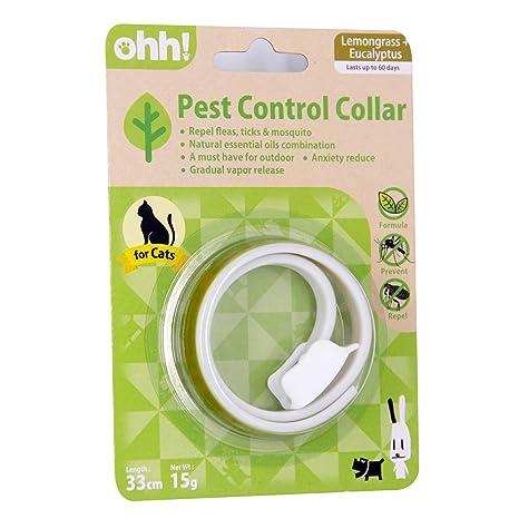 Collar de protección contra pulgas y garrapatas para Gatos – Aceite Esencial Natural no