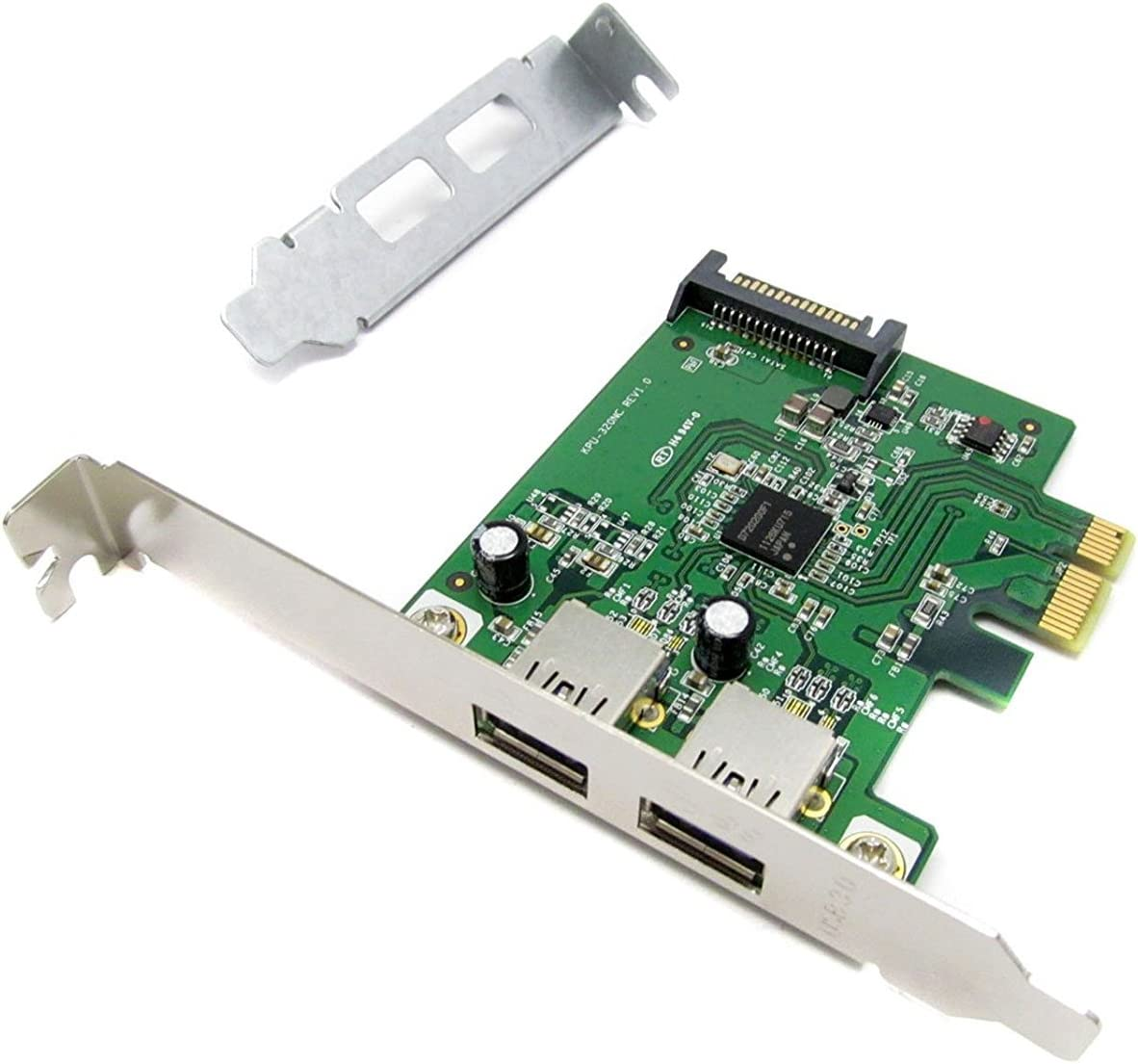 HP 608151-001 SuperSpeed USB 3.0 PCIe x1 interface card - Includes low profile bracket