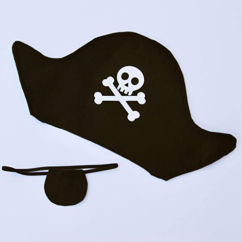 cd5abc317 Amazon.com: Pirate Hat and Eye Patch: Handmade