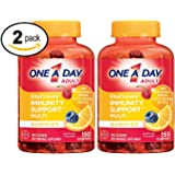 One A Day VitaCraves Multivitamin Gummies with Immunity Support, (2 Pack)