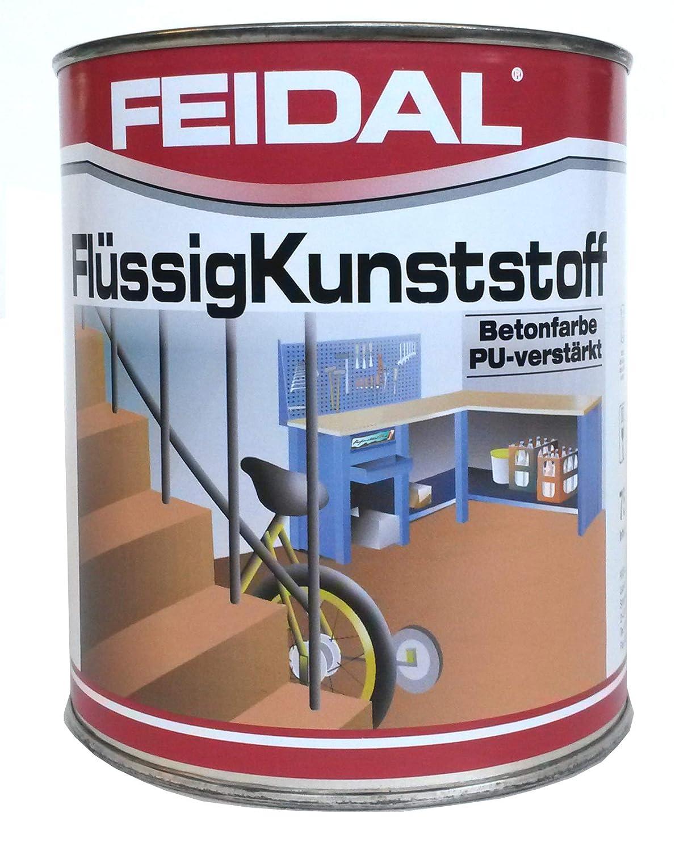 Feidal Flü ssigkunststoff, zum Versiegeln und Beschichten von Betonbö den, Farbton: Steingrau RAL 7030 / 2,5 Liter Feidal GmbH