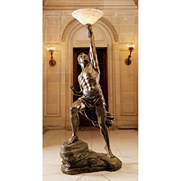 Lovely Design Toscano Prometheus Sculptural Floor Lamp