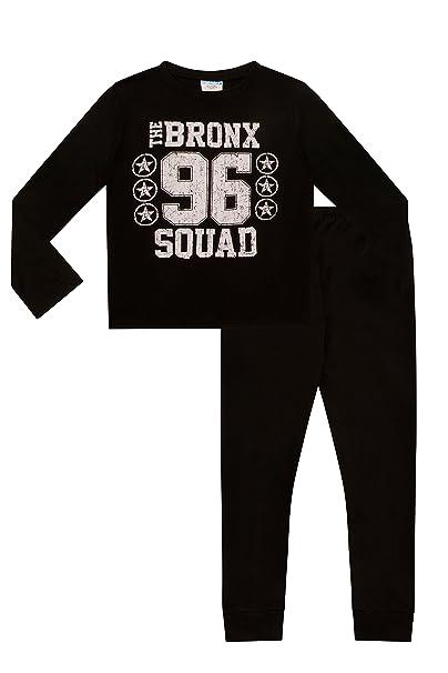 ThePyjamaFactory - Pijama dos piezas - para niño Negro negro 11-12 Años