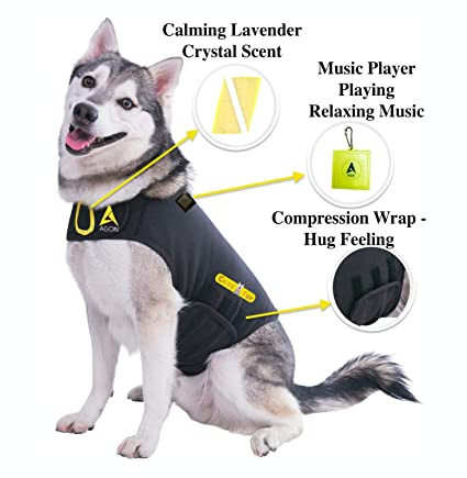 Amazon.com : CozyFur Patent Pending Canine Anti Anxiety Vest Calming