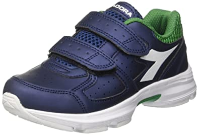 Diadora Scarpe Kids Sneakers Shape 8 SL JR in Pelle blu 101172076-01 ... 6112a6cadae