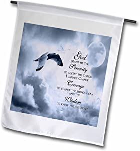 3dRose fl_52227_1 The Serenity Prayer a Beautiful Dove One of a Kind Graphic Will Inspire All Garden Flag, 12 by 18-Inch