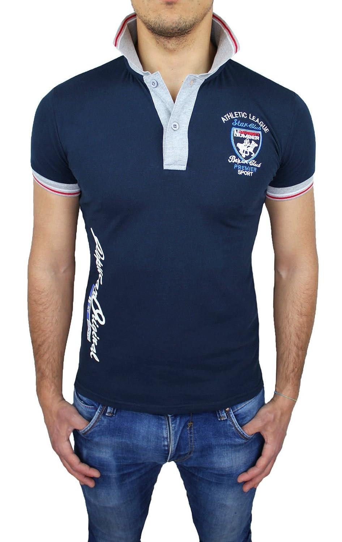 Polo camiseta hombre Athletic Star Club Azul Oscuro Casual Slim ...