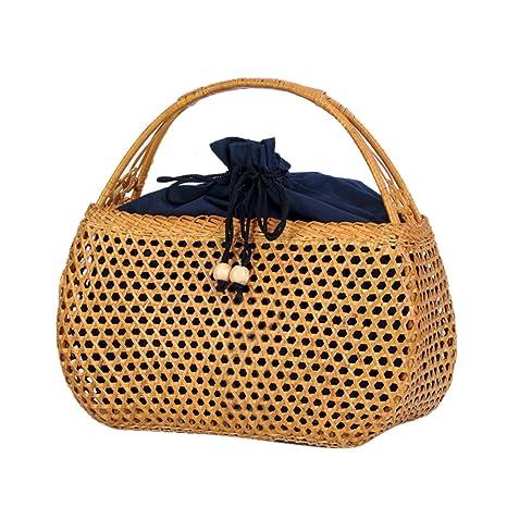 5aee88fec8a2 Amazon.com: SHZONS Bamboo Handbag, Bamboo Ark Bag Tote Bamboo Purse ...