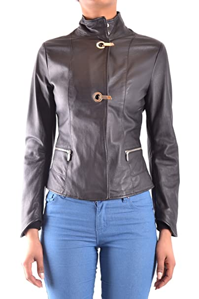 new product f63d1 9f052 Armani Jeans Giacca Outerwear Donna Mcbi025142o Pelle Nero ...