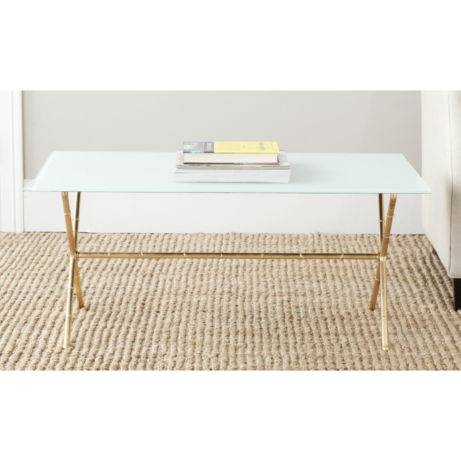 Amazon Safavieh Home Collection Brogen Gold Accent Table