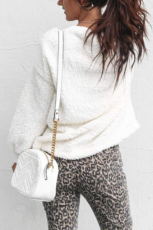 Zabmauek Womens Long Sleeve Sweatshirt Pullover Winter Outwear Jackets