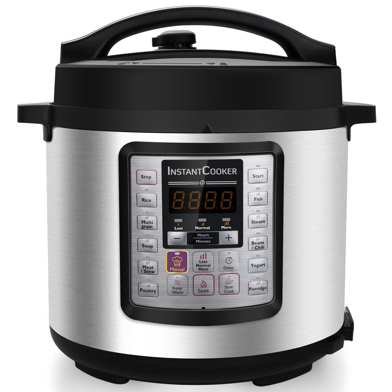 Instant Cooker IC60 7-in-1 Multi-Functional Programmable Pressure Cooker, 6Qt/1000W by Instant Cooker