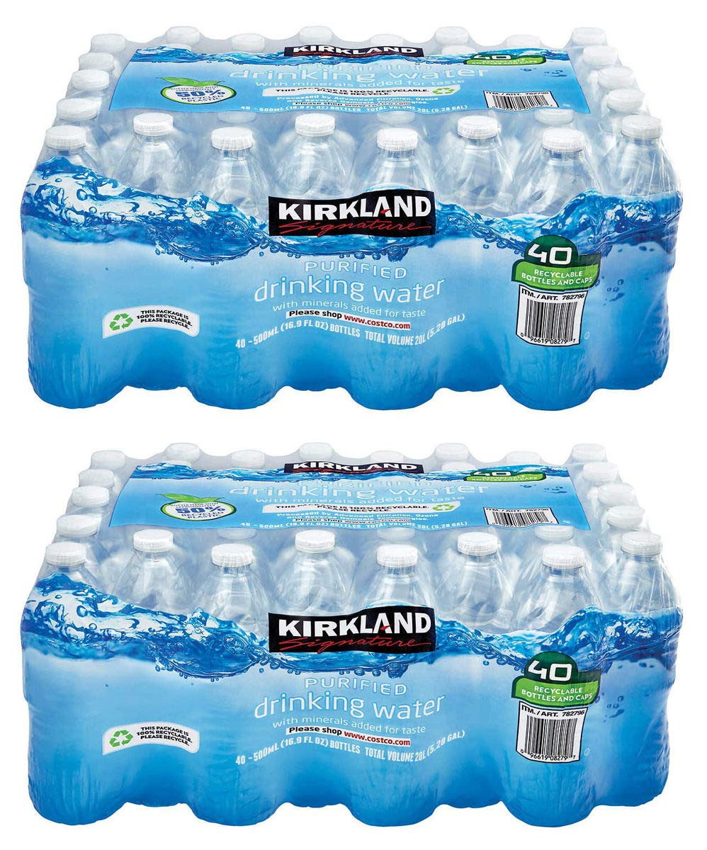 IUYEHDUH Purified Drinking Water, 16.9 Ounce, 2 Pack of 40 Bottles