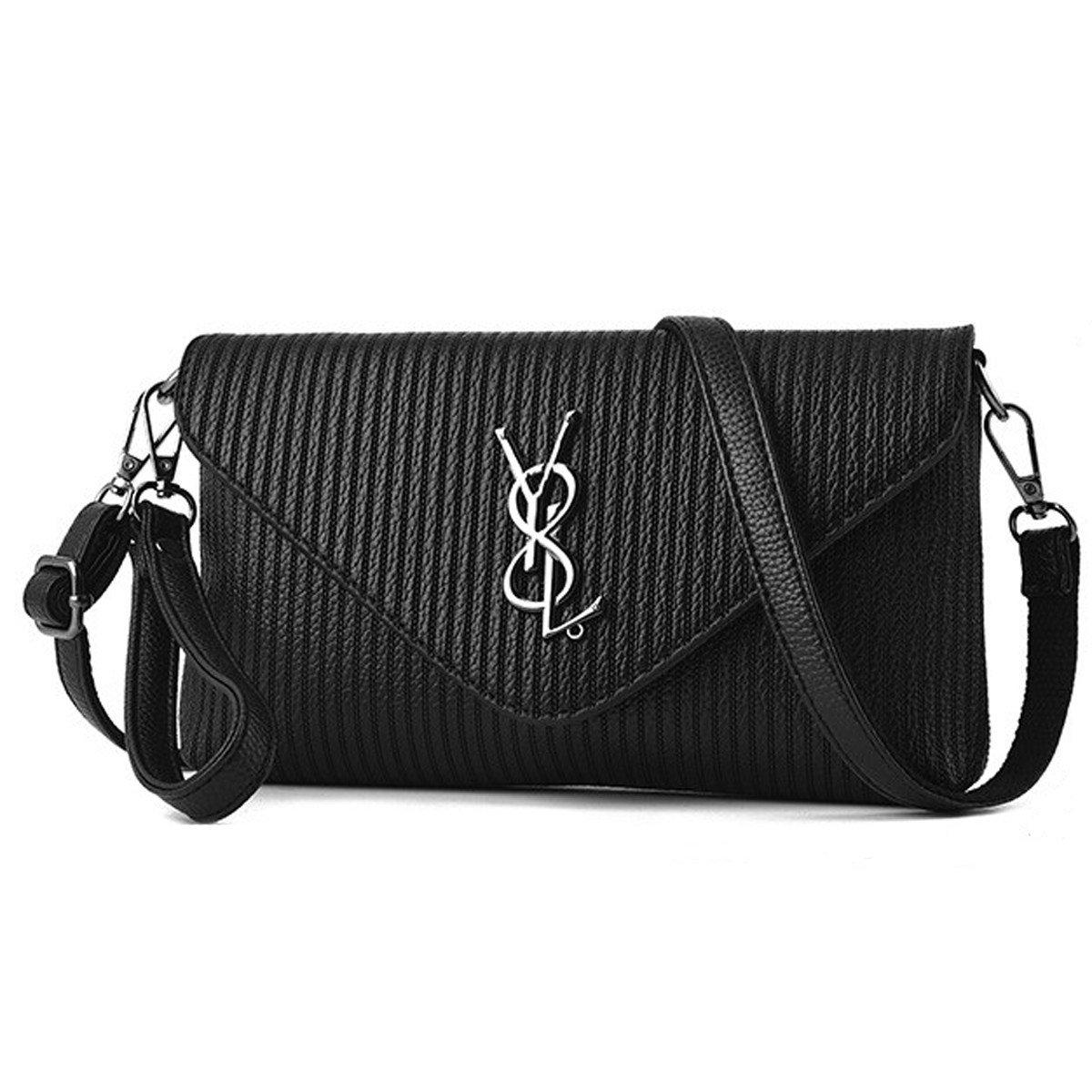 2017 Sommer Neue Damen Umhängetasche Umschlag Tasche Messenger Bag Black-OneSize liyuanbaihuo